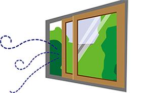 窓や戸を大きく開けて十分に換気してください。